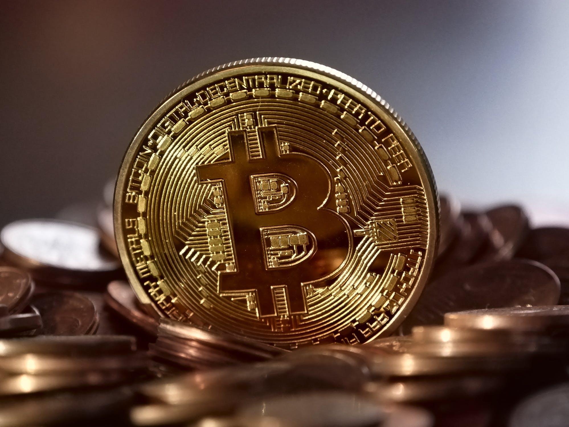 Bitcoin og mønter